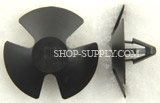 Black Nylon Hood Insulation Retainer Chrysler # 4878883AA