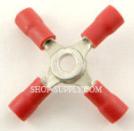 Red 22 -16 Gauge Nylon 4-Way