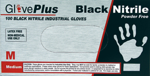 X-Large Black Nitrile Gloves